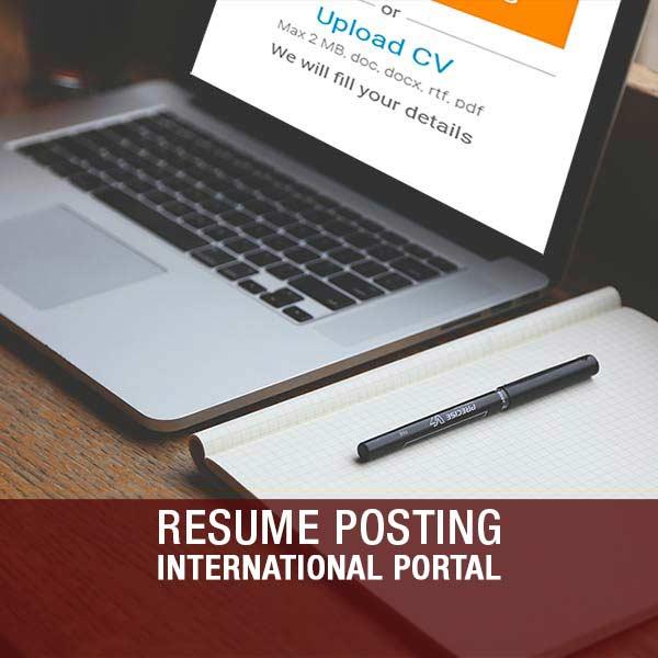 Resume Posting (International Portal) – 3 Postings – HINDCO